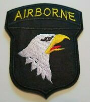 US Army Airborne Embroidered Patch~Eagle~Iron or Sew On~Military~FREE Shipping