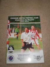 Evesham United v Shepshed Dynamo 1999 programme