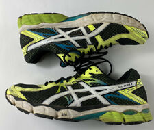 ASICS Gel Flux 2 Men's Sz 12 Athletic Running Shoes Sneakers Lace Up T518N Neon