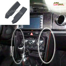 Carbon Fiber Interior Center Console AC Trim For Toyota 86 Scion FR-S Subaru BRZ