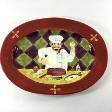 Certified International Jennifer Brinley 16 Inch Oval Platter  Chef  Design