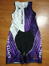 New listing Nwot Pactimo Tri Suit Sleeveless Black Purple White Triathlon Cycling Xl
