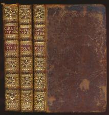 Plinius der Jüngere: Libri Decem (1751). 3 Bände (komplett).