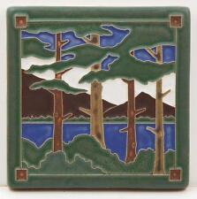 6x6 Arts & Crafts Lake Tahoe Pines Tile by Arts & Craftsman Tileworks