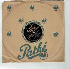 78T 25cm Rina KETTY Disque Phonographe Chanté J'ECOUTE SUR LA ROUTE - PATHE 2273