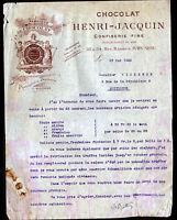 """IVRY-sur-SEINE (94) USINE de CHOCOLATS & BONBONS """"Henri JACQUIN"""" en 1922"""