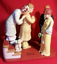 "Norman Rockwell American Family Porcelain Figurines ""First Date, Home Late"""