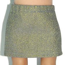 "GOLD METALLIC STRETCH DENIM SKIRT - Doll Clothes -fits 18"" American Girl Dolls"