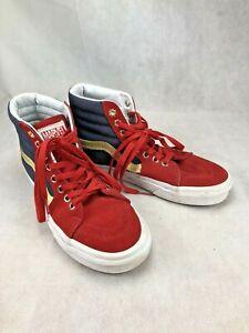 Vans High Top Sk8 Marvel Shoes, Mens 5.5, Women 7, Red, Blue, Gold RARE