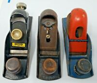 Lot of 3 Vintage Planes TWO VINTAGE STANLEY No.220 WOOD PLANES