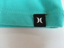 HURLEY NIKE DRI FIT - SOLID COLOR - SMALL GREEN ATHLETIC T-SHIRT - R1738
