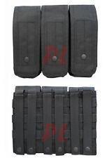 MOLLE 7.62mm 5.56mm TRIPLE Mag Pouch Magazine Close Flap Pouch Pals-BLACK