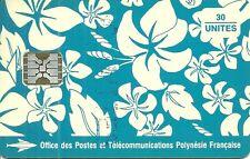 RARE / TELECARTE POLYNESIE FRANCAISE : PAREO BLEU