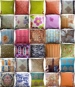 Cushion cover vintage retro designer fabric stripes flower Aztec animal print