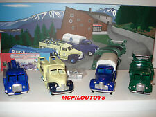 CIJ NOREV COFFRET 4 CAMIONS FORD POISSY ET STUDEBAKER EDITION LIMITEE 1000 EX .