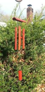 Soothing Natural Bamboo Red Wood Wind Chimes Fairy Garden Yard Lawn Porch Decor