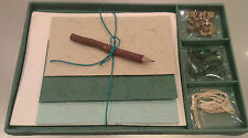 Handmade Paper Writing Stationery Set *UNIQUE GIFT SET* Xmas Gift Idea -Green1