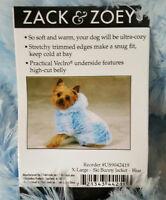 Zack & Zoey X-Large Blue Dog Ski Bunny Jacket