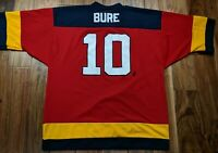 Vintage LOGO 7 Florida Panthers Pavel Bure Hockey Jersey Mens XL X-Large Canucks