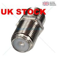 F Type Connector Coupler for Joining Satellite Virgin Sky + HD Q Cables