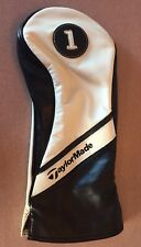 TaylorMade Premium Leather Driver White Black Headcover