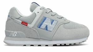 New Balance Kid's 574 Speed Little Kids Male Shoes Grey with Blue