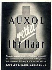 F. Wolff & Sohn Karlsruhe AUXOL HAARTONIKUM Historische Reklame von 1941