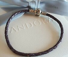 Authentic Pandora Metallic Purple Leather Bracelet 18cm