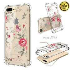 Iphone 7 Plus Case Scratch Resistant Slim Shockproof Hard PC TPU Bumper Flower