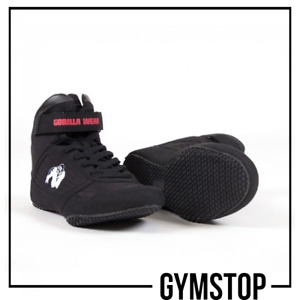 Gorilla Wear High Tops - Black Gym Trainers Shoes