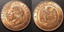 Napoléon III - Deux centimes tête laurée 1861 A, Paris - SUP / SPL - F.108/1