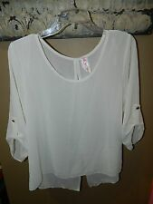 Tovis Dress Shirt Top Blouse Studs Womens Size XLarge