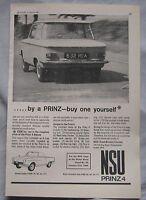 1964 NSU Prinz 4 Original advert No.2
