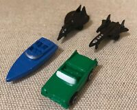 4 x MICRO MACHINES CAR BOAT + 2 AEROPLANES RARE NEW 90s COLLECTABLE COLLECT