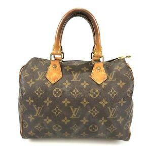 100% authentic Louis Vuitton Monogram Speedy 25 M41528 handbag used 134-1-z