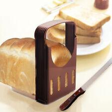 Bread Slicer Cutter Kitchen Guide Loaf Cake Toast Slice Slicing Knife Cutting FA