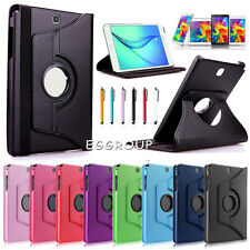 """For Samsung Galaxy Tab A E S2 S3 4 3 10.1"""" -7"""" Smart Rotate Leather Case Cover"""
