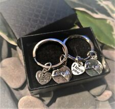 Pair of Silver Pinky Promise & I Love You KeyRings / Handbag Charms