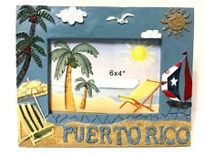 PUERTO RICO RICAN BEACH SAILBOAT TABLE PHOTO FRAME GIFT SOUVENIRS pictures 6x4