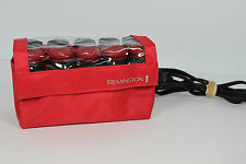 Remington H1012 Travel Hot Curlers Hot Rollers 10 Rollers with Clips Red Case