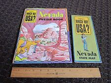 Nevada Travel Activity Book Info History Educational Puzzles Games FREE SHIP