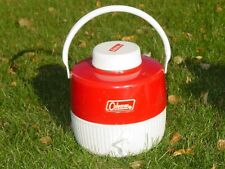 New listing Coleman Red Snow Lite 1 Gallon Thermos Drink Water Cooler Jug Camping Vintage