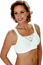 3e99931b119 NEW MISS MARY OF SWEDEN 2315 WHITE FULL SOFT CUP LACE TRIM BRA SIZES 34-