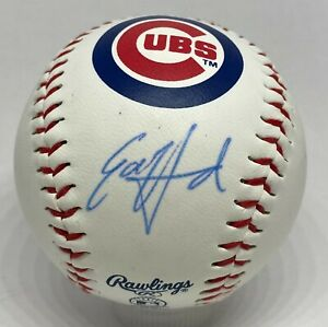 Ed Howard Signed Chicago Cubs Logo Baseball BAS WITNESSED Sticker ONLY Auction5