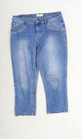 Janina Womens Blue  Denim Cropped Jeans Size 12 L23 in