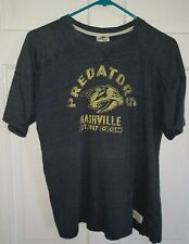 NASHVILLE PREDATORS NHL heather Blue Hockey style Tee T-shirt.  Youth L