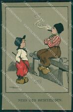 Ethel Parkinson Dutch Children Dondorf serie 382 postcard cartolina QT7033