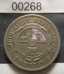 South Africa Republic 1896 2 Shillings, see images for grade, a very tidy coin