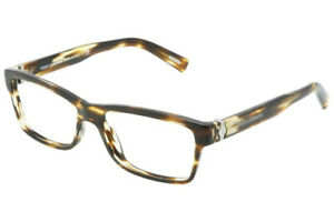 New DOLCE & GABBANA DG3129 2597 55mm Brown Havana Eyeglasses RX Frames Italy
