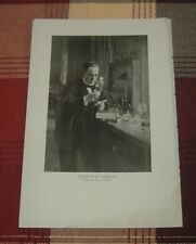 1911 Louis PASTEUR IN HIS LABORATORY French Biologist Chemist Vaccines Print